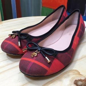 Kate Spade Plaid Checkered Ballerina Flats sz 7